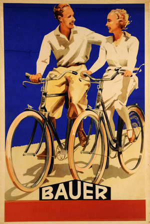 1945 advert for Bauer cycles