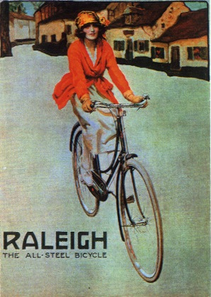 Advert for Raleigh cycles