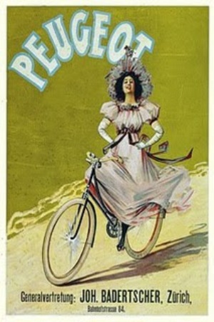 Advert for Peugeot cycles
