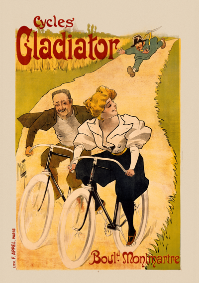This Cycles Gladiator advert played on contemporary concerns about the immorality of the bloomer girls