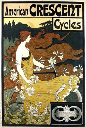 1899 advert for American Crescent Cycles by Frederick Winthrop Ramsdell