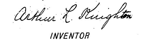 Arthur L. Linton's signature
