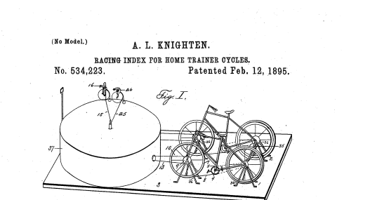 Fig. I. A general view of the track, model cyclists on same, and two home trainer cycles