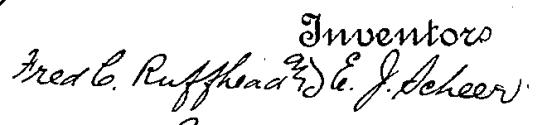 The inventors signatures