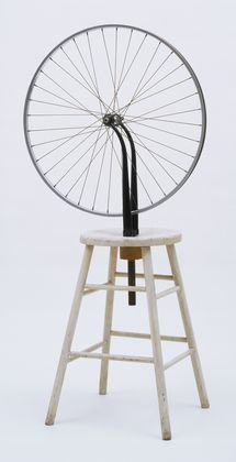 """Bicycle Wheel"" by Marcel Duchamp, New York, 1951 (third version, after lost original of 1913), The Sidney and Harriet Janis Collection. © 2014 Artists Rights Society (ARS), New York / ADAGP, Paris / Estate of Marcel Duchamp"