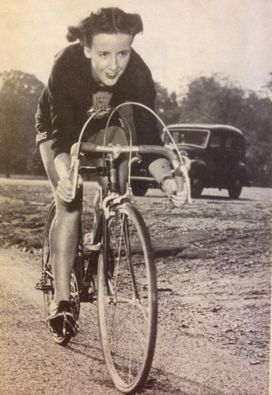 Eileen Gray, founder of the Women's Cycle racing Association, 1950's