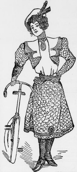 Readers of the Philadelphia Enquirer were encouraged to make their own Spring cycling suit using this image as a guide