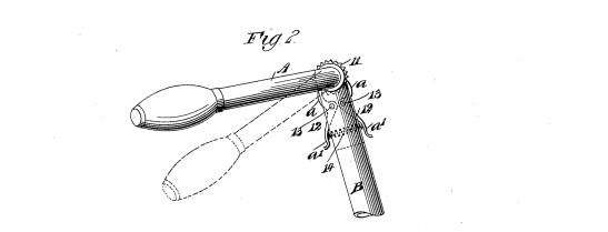 Detail from Vanevera's patent, US patent 620,684 of 1899.