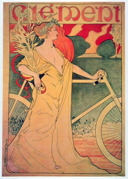 An advert for Clement cycles, c.1900