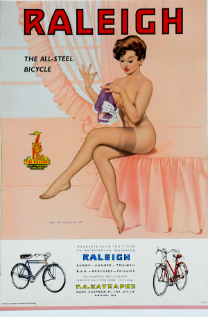 Greek advert for Raleigh Bicycles
