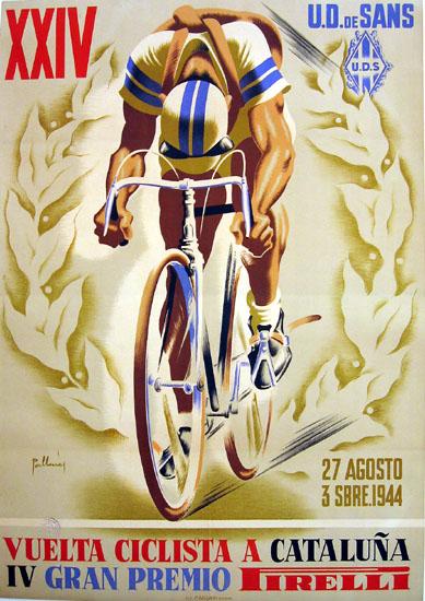 Vuelta Ciclista a Cataluna poster 1944