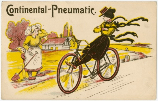 Continental Tyres postcard. Date unknown (c. 1890s ?)