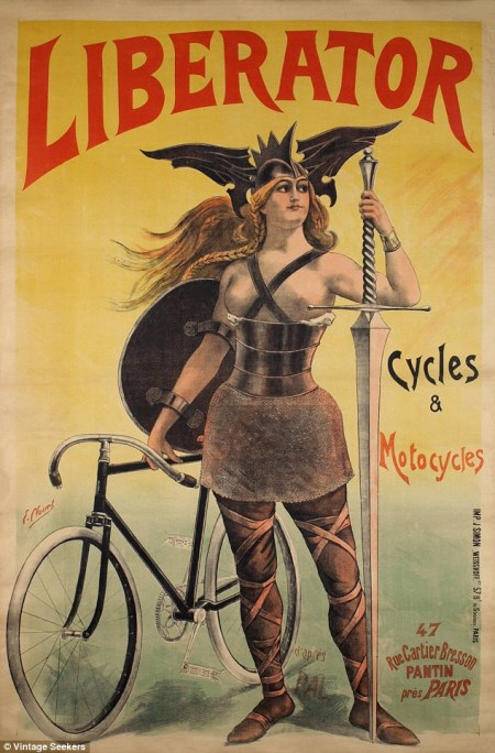 An advert for Liberator cycles
