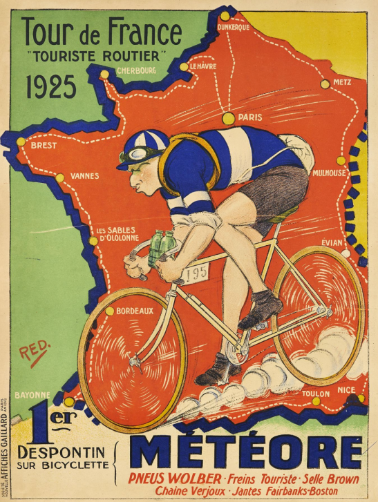 Meteore cycles advert celebrating the 1925 Tour de France