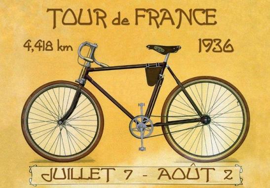 1936 Tour de France poster