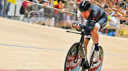 Jens Voigt during his Hour, Velodrome Suisse, 2014. The peloton and cycling fans worldwide will miss one of modern cycling's greats now he's retired