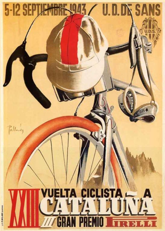 Vuelta Ciclista a Cataluna poster 1943