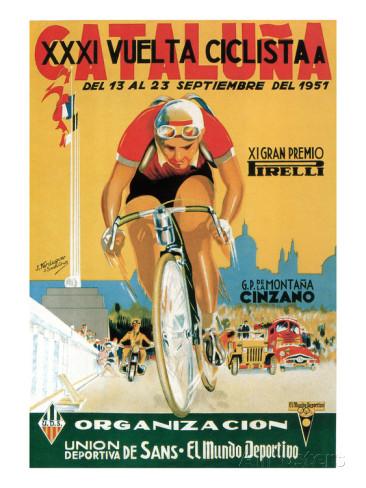 Vuelta Ciclista a Cataluna poster 1951