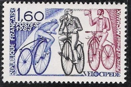 France 1983, Pierre and Ernest Michaux candidates for the invention of the pedal powered bicycle