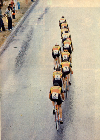 TI-Raleigh in the 1981 Tour Team Time Trial