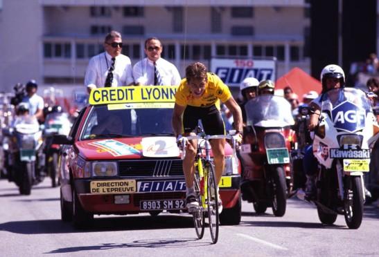 GREG LEMOND AT ALPE D'HUEZ IN THE 1989 TOUR DE FRANCE
