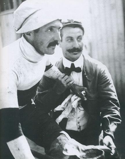 Rene Pottier (1879-1907) in his trademark cap