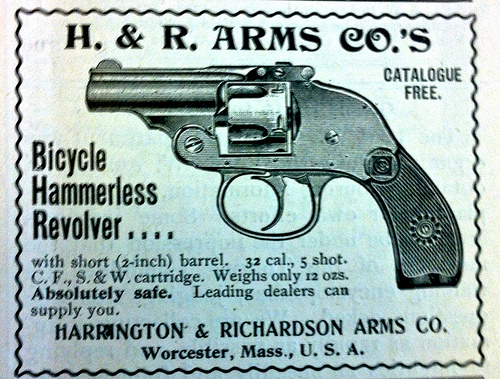 Advert for H&R Arms Bicycle Hammerless Revolver