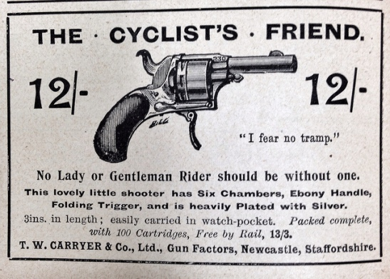 'The Cyclist's Friend', a gun advert from England