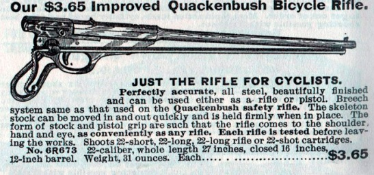 Quackenbush Bicycle Rifle