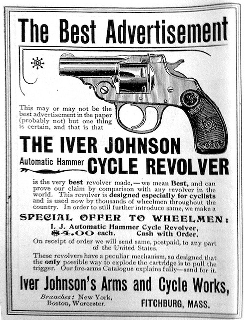 Advert for Iver Johnson Cycle Revolver