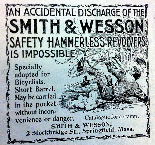 Advert for Smith & Wesson revolver