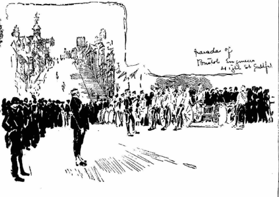 'Parade of Bristol Engineers, High Street Guildford'