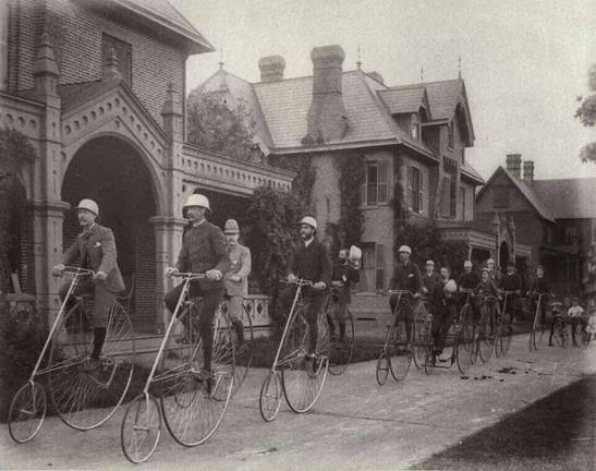 The Kendall Green Bicycle Club, Weston MA, 1884