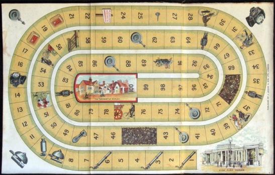 Wheeling gameboard, circa 1896. © Anki Toner