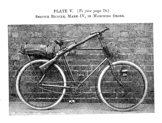 Service Bicycle (Mark IV) (Source: Cyclist Training, 1914).
