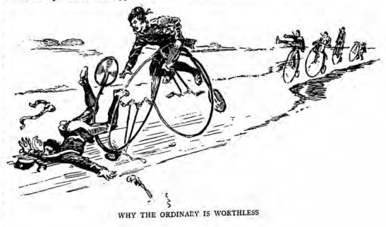 One reason why the penny-farthing was unsuitable for military purposes (Source: The Graphic, March 31, 1888)